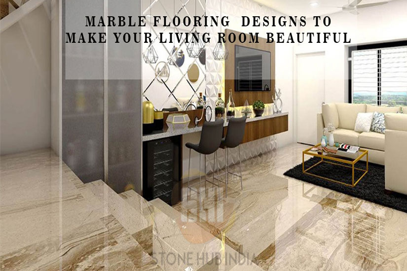 Marble flooring designs to make your living room beautiful