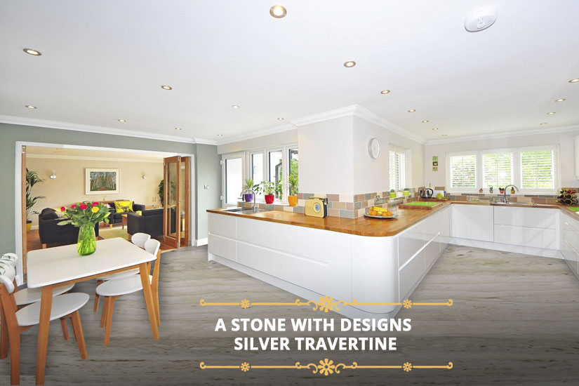 A Stone with Designs: Silver Travertine