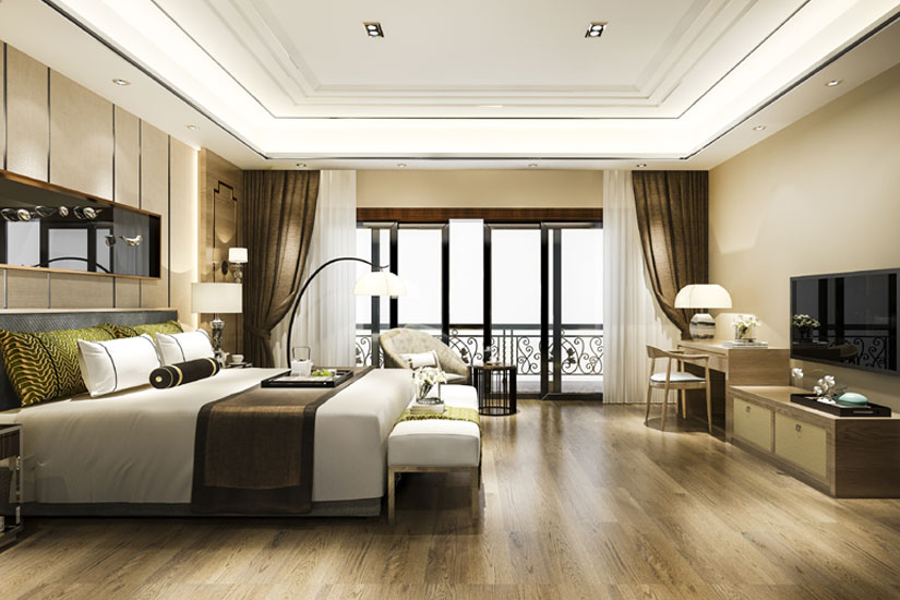 Steal The Spotlight With These Elegant Travertine Floor Ideas For Your Bedroom